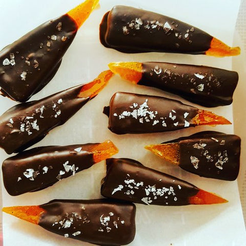 Assorted Candied Citrus Peels in Dark Chocolate