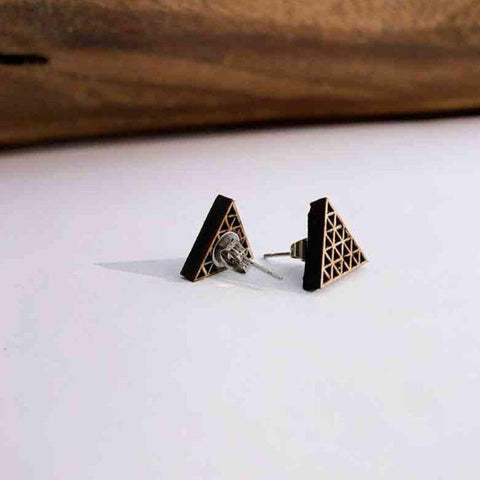 Sierpinski Stud Earrings