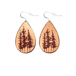 Tree Tops Leather Earrings