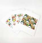 Frida's Fall Collection Hand Drawn Greeting Cards, Set of 4
