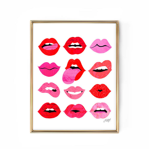 Lips of Love Illustration - Art Print