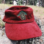 Autumn Red Pinecone Hat