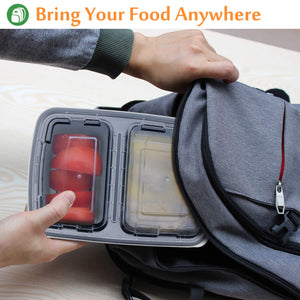 Enther 2 Compartment Meal Prep Containers 36 oz