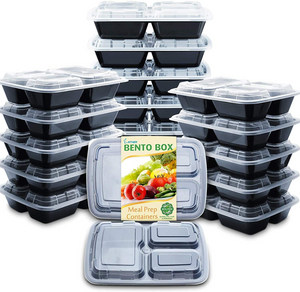 Enther 3 Compartment Meal Prep Containers