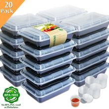 Load image into Gallery viewer, Enther Single Compartment 28 oz Meal Prep Containers