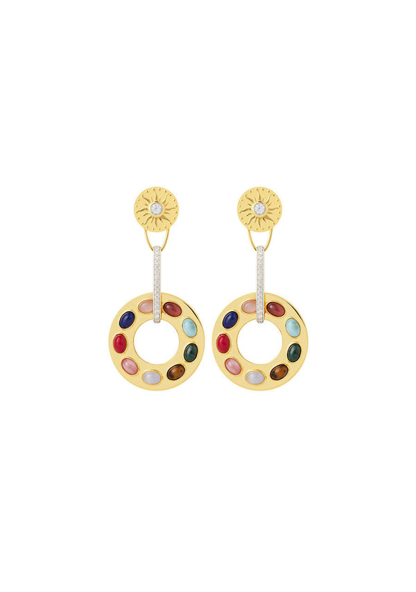 Navaratna Statement Earrings