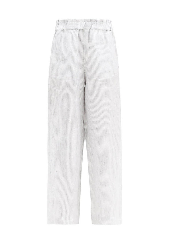Natalia Trousers in Striped Organic Linen