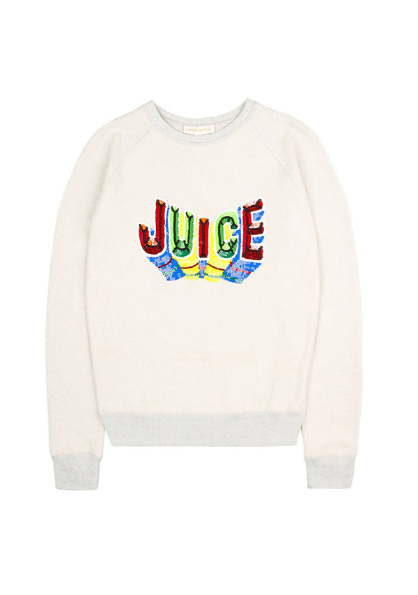 Juice Mini & Me Ecru Sweater in Cotton Jersey