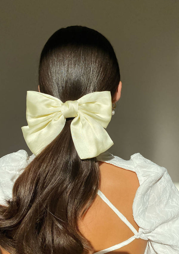 Oversized Bow Hair Clip in Satin
