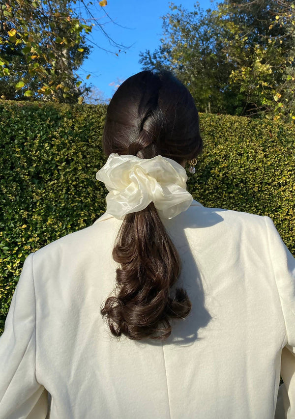 Oversized Hair Scrunchie in Polyester