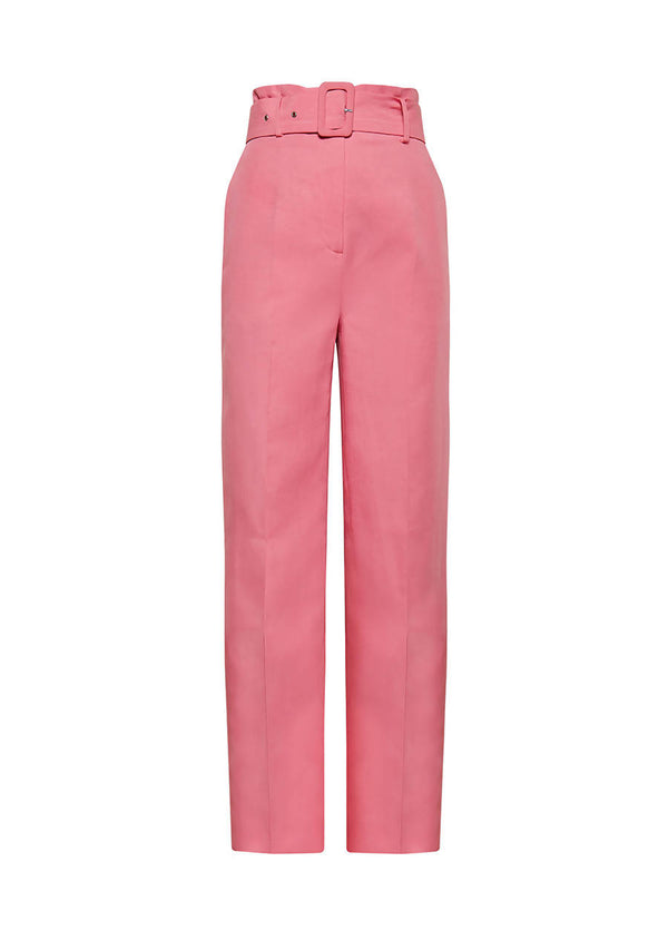 Lily High Waisted Pink Flared Trouser