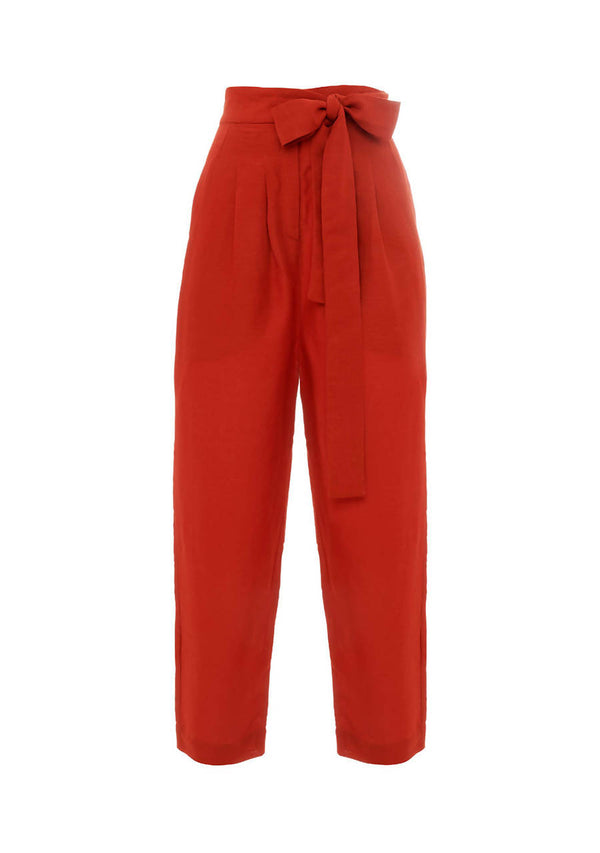 Burnt Red Cigarette Trousers