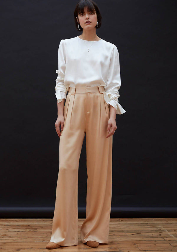 Golden Hour Trousers in Heavy Silk Satin