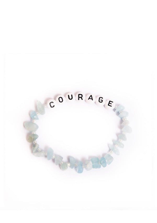 Courage - Aquamarine Crystal - Healing Bracelet