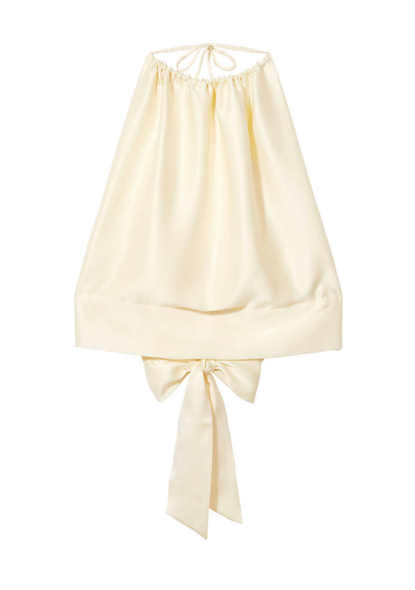 Classic Drawstring Top in Silk Satin