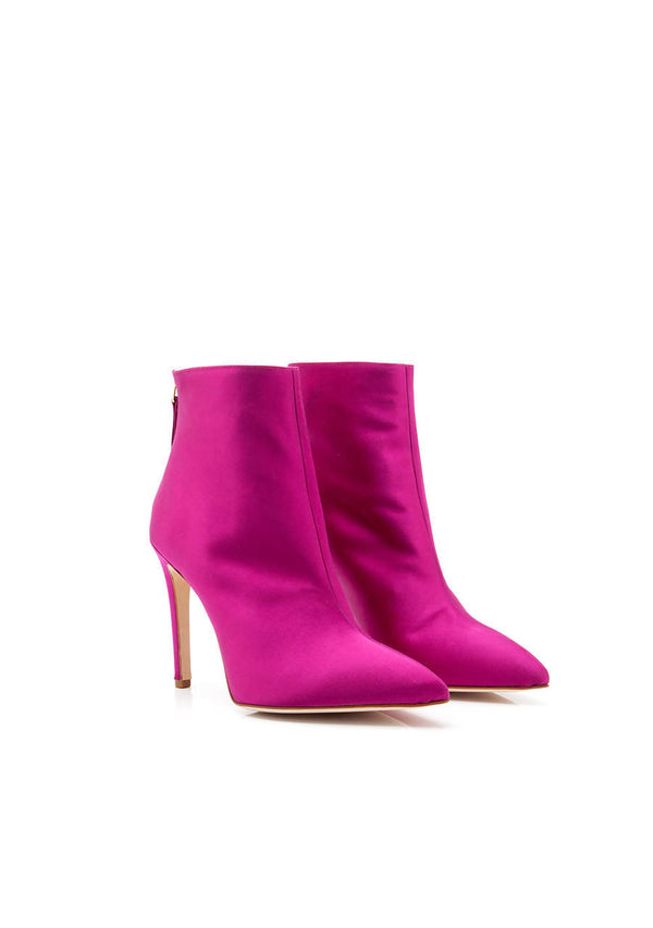 Ivy Tourmaline Boot in Silk Satin