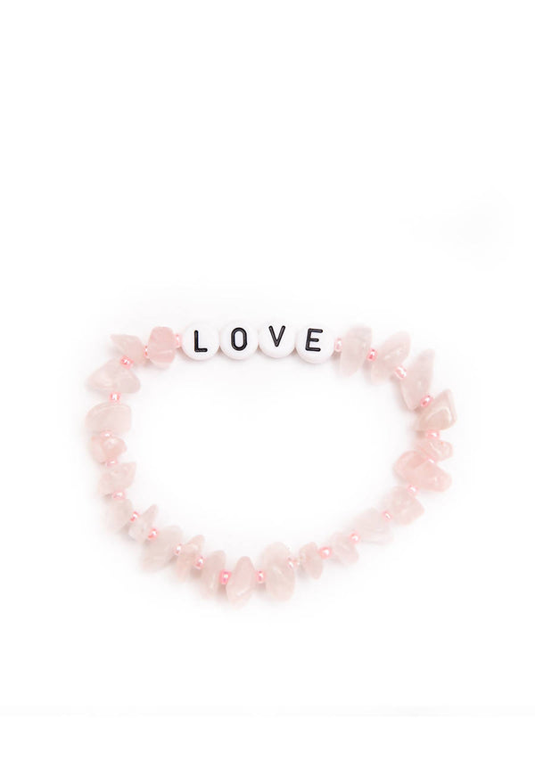 Love - Rose Quartz Crystal - Healing Bracelet