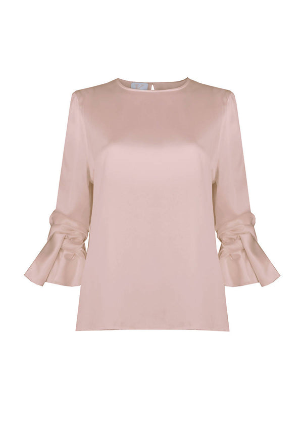 Soft Cloud Blouse in Heavy Silk Satin
