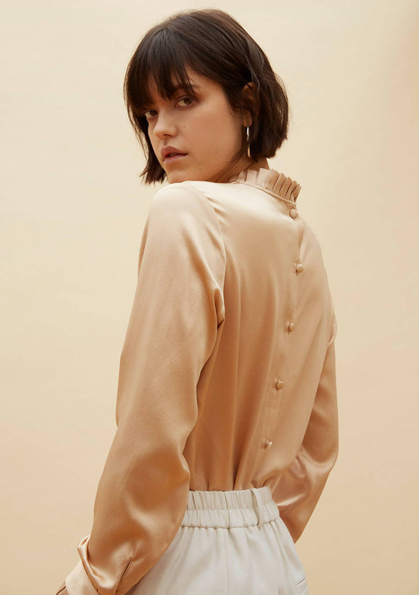 Golden Hour Blouse in Heavy Silk Satin