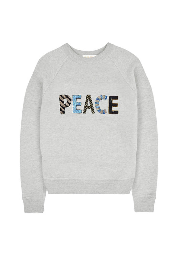 Peace x Eaa Grey Sweater in Cotton