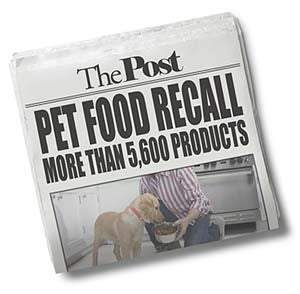 pet food recall in the papers