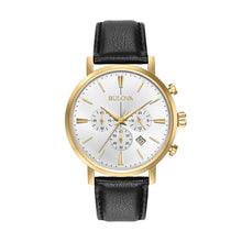 Load image into Gallery viewer, Bulova Men's Classic Leather Chronograph Watch
