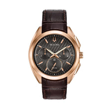 Load image into Gallery viewer, Bulova Men's CURV Leather Chronograph Watch