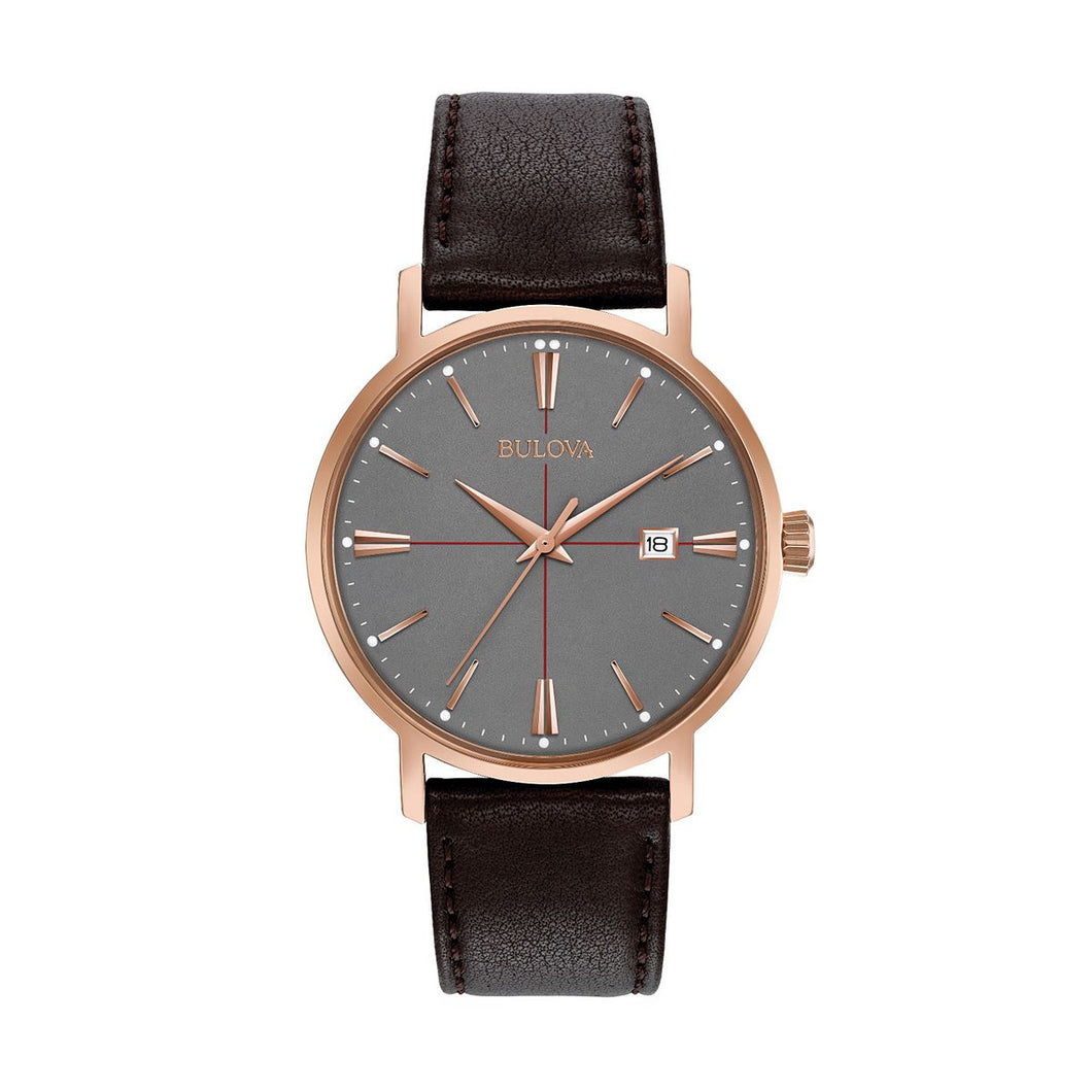 Bulova Men's Classic Leather Watch