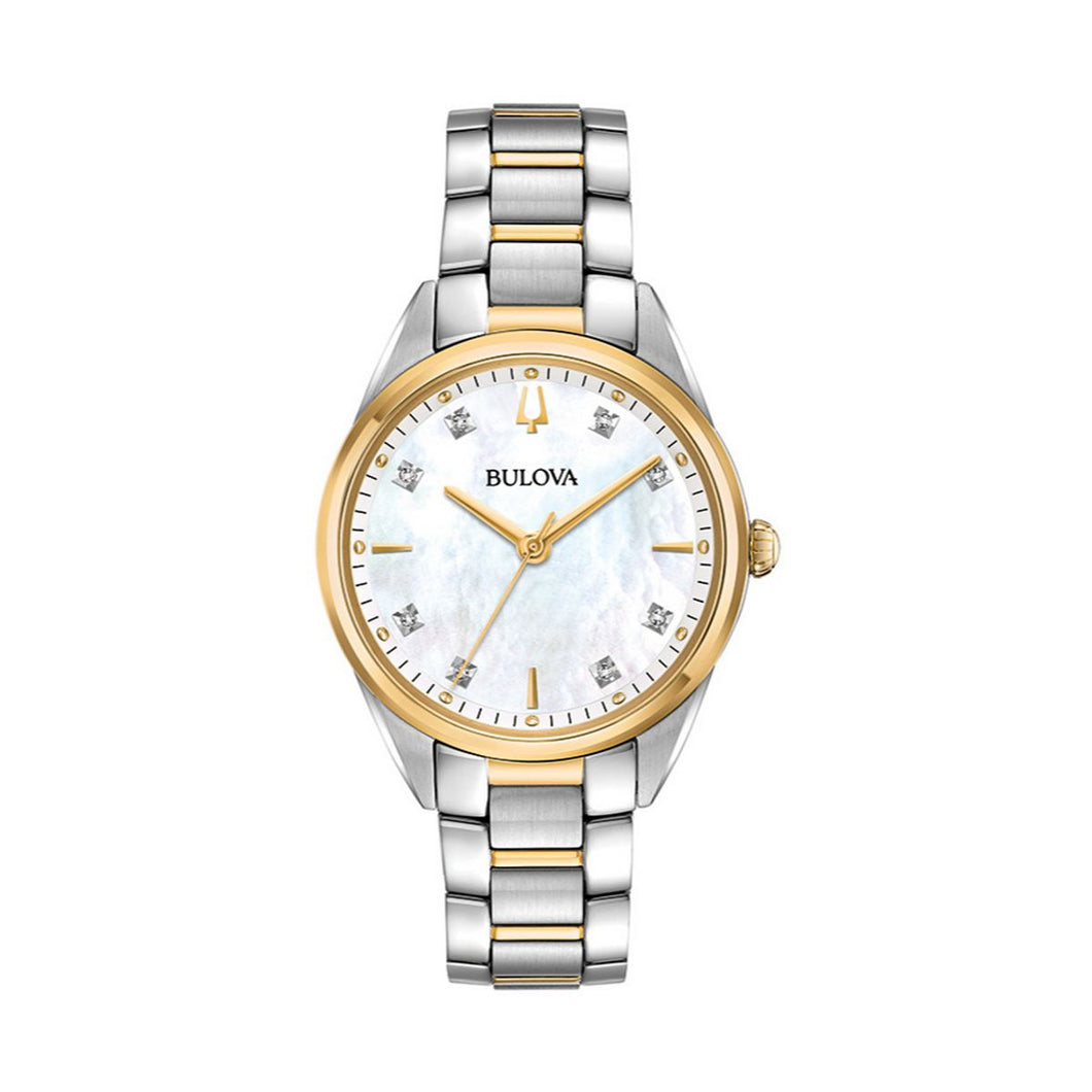 Bulova Women's Sutton Diamond Two Tone Stainless Steel Watch