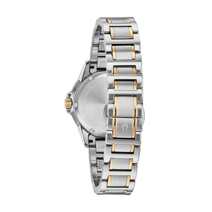 Bulova Women's Marine Star Two Tone Stainless Steel Diamond Accent Watch