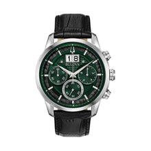 Load image into Gallery viewer, Bulova Men's Leather Chronograph Watch