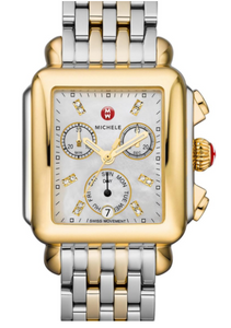 Deco Non-Diamond Two-Tone, Diamond Dial Two Tone Watch