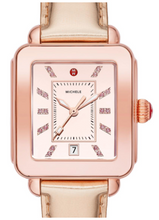 Load image into Gallery viewer, Deco Sport High Shine Pink Gold Tone Mirror Dial Pink Gold Leather Watch