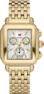 Deco Diamond Dial Gold Watch