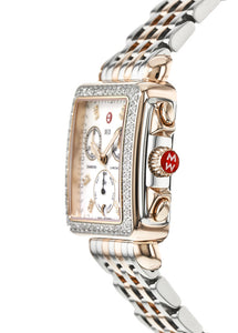 Deco Diamond Two-Tone Rose Gold, Diamond Dial Watch