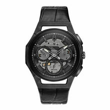 Load image into Gallery viewer, Bulova Curv Chronograph 43mm Black Leather Strap Quartz Men's Watch