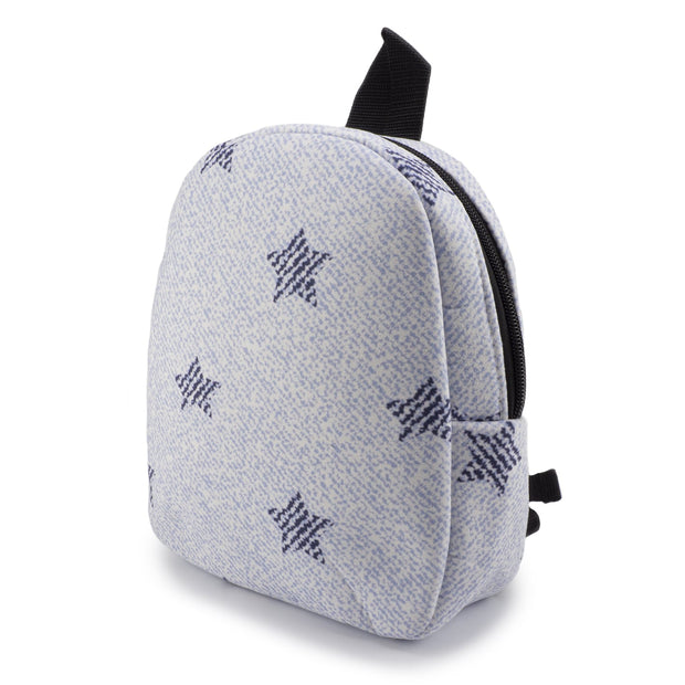White Denim Stars Backpack