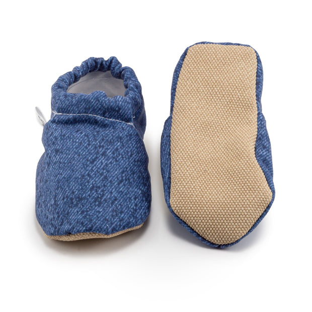 blue baby and toddler denim moccasins