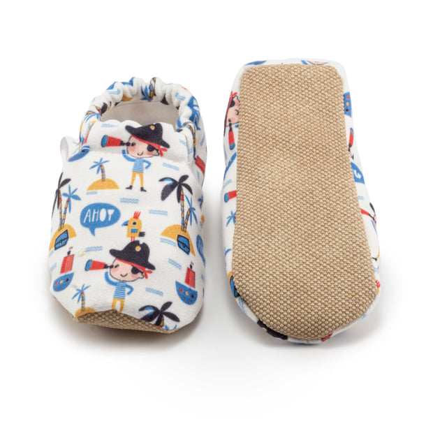 anti-slip soft canvas shoes with pirate print