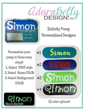 Load image into Gallery viewer, Infinity Pump Personalized Name Decals