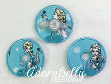 Load image into Gallery viewer, Elsa Gtube Pads G Tube Covers Frozen Sketch on Aqua