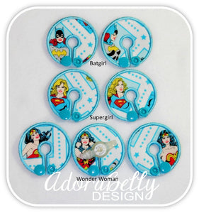Wonder Woman, Supergirl, Batgirl Tubie Cover (Gtube Covers G tube Pad Disney)  WW aqua