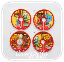 Load image into Gallery viewer, Daniel Tiger Tubie Cover (Gtube Pads G Tube Covers) O the Owl, Katerina Kittycat, Prince Wednesday, Miss Elaina