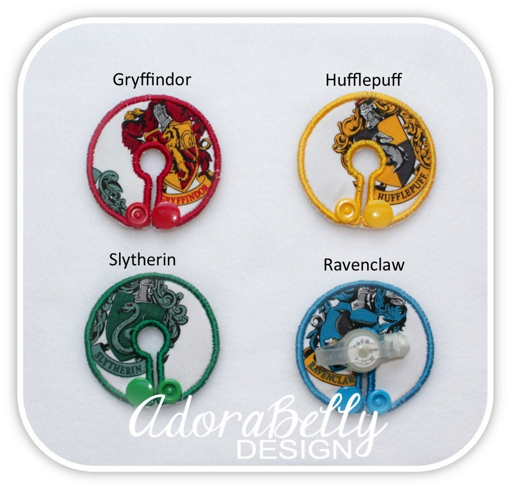 Harry Potter House Tubie Covers  (Gtube Pad Feeding Tube) Gryffindor, Hufflepuff, Ravenclaw, Slytherin