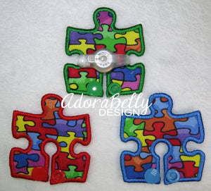 Autism Awareness Puzzle Shape Gtube Pads Feeding Tube Pads G Tube Tubie Covers
