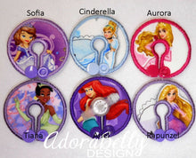 Load image into Gallery viewer, Disney Princess Gtube Pads G Tube Covers Sofia Cinderella Ariel Tiana Aurora Rapunzel