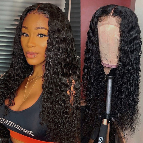 Ubeautywig 13x6 Curly Transparent Lace Front Wig 150% Density Virgin Human Hair Wigs Preplucked Hairline With Baby Hair
