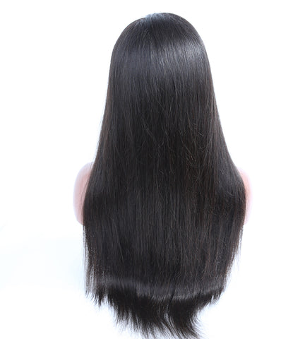Ubeautywig Indian Remy Hair Full Lace Wigs Silky Straight Natural Color 130-180% density