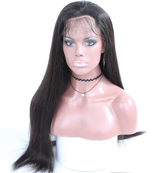 Ubeautywig Straight 13x6 Lace Front Wigs Natural Color Indian Remy Human Hair Wigs 150% Density