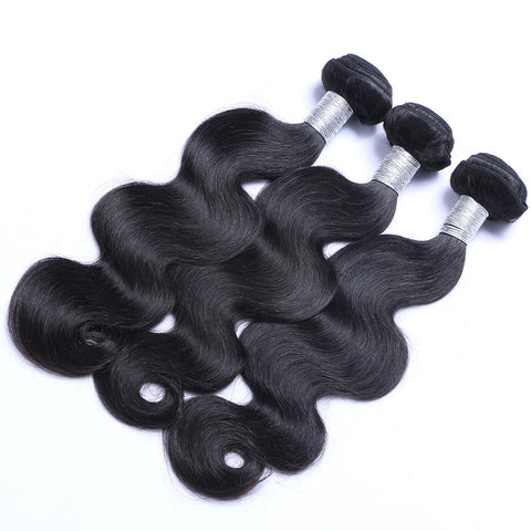 Brazilian Virgin Human Hair Weaving Body Wave Weft Hair 3pcs/lot